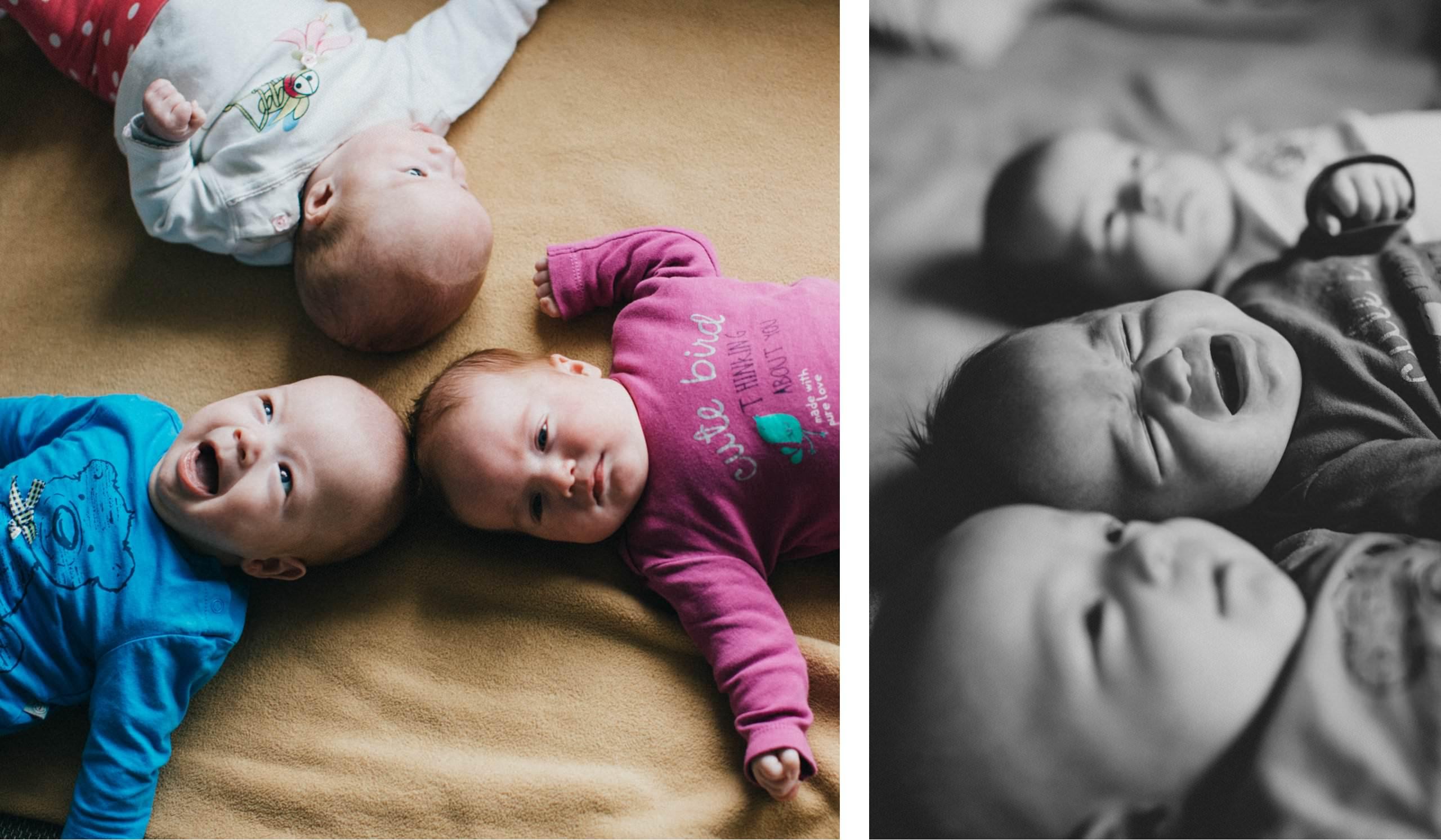 Babyfotos Berlin Drillinge
